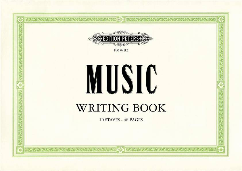 Peters Music Writing Book - groß