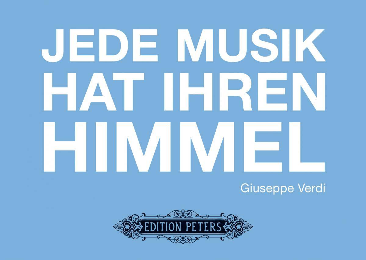 Edition Peters Musical Gifts: Grußkarten Verdi (Klappkarte quer)