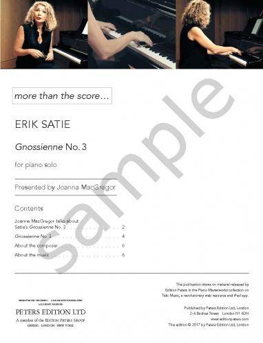 Gnossienne Nr. 3 (More than the Score)